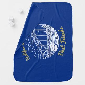 Halifax Dartmouth Best  Friends    blanket blue Receiving Blanket