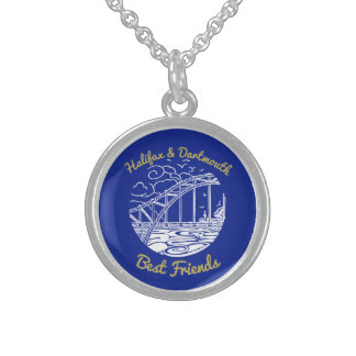 Halifax Dartmouth best friends N.S. something blue Sterling Silver Necklace