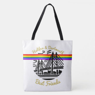 Halifax Dartmouth Best friends Pride flag rainbow Tote Bag