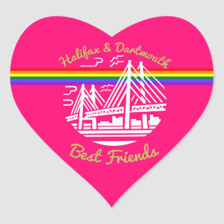Halifax & Dartmouth best friends Pride sticker