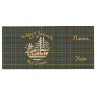 Halifax Dartmouth best friends tartan flash drive Wood USB 2.0 Flash Drive