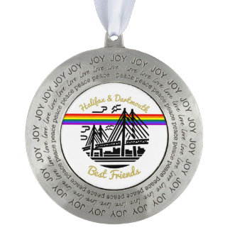 Halifax Dartmouth best friends tree ornament