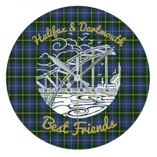Halifax Dartmouth  Best Friends wallclock  tartan