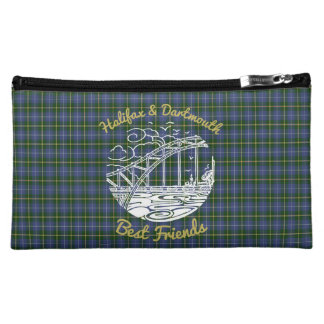 Halifax Dartmouth Friends cosmetic bag tartan