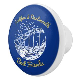 Halifax Dartmouth  Friends drawer pull blue