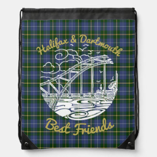 Halifax Dartmouth   Friends drawstring bag tartan