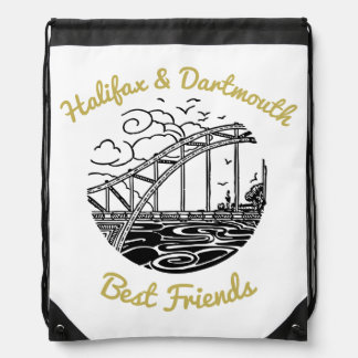 Halifax Dartmouth N.S. Best Friends drawstring bag