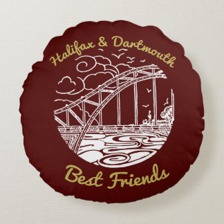 Halifax Dartmouth N.S. Best Friends pillow red