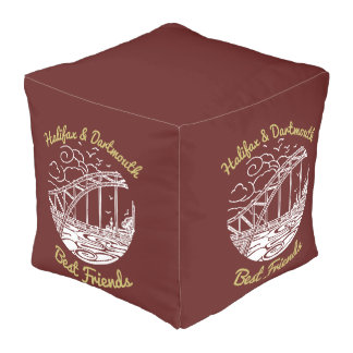 Halifax Dartmouth N.S. Best Friends  pouf red