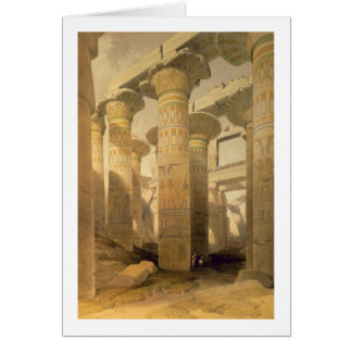 """Hall of Columns, Karnak, from """"Egypt and Nubia"""", V Card"""