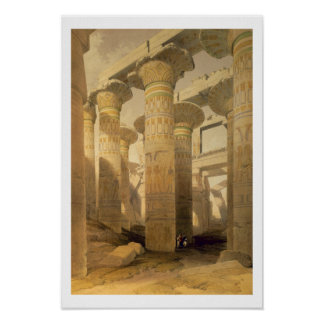 """Hall of Columns, Karnak, from """"Egypt and Nubia"""", V Poster"""