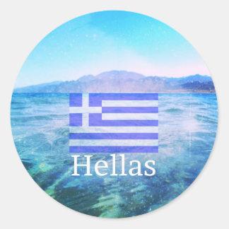 Hallas Classic Round Sticker