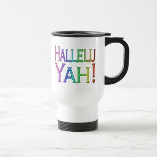 Hallelu Yah! (rainbow) 15 Oz Stainless Steel Travel Mug