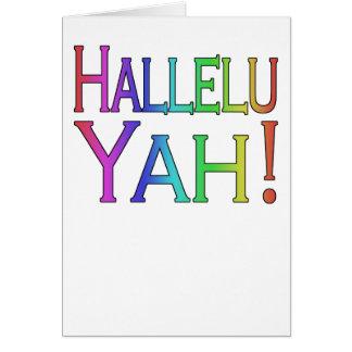 Hallelu Yah! (rainbow) easter card