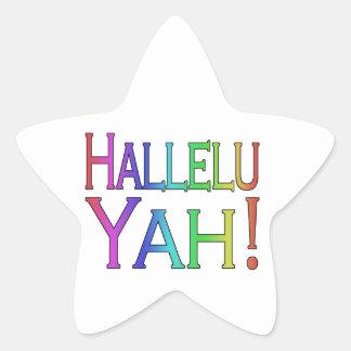 Hallelu Yah! (rainbow) Star Sticker