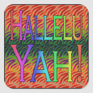 Hallelu Yah! Square Sticker