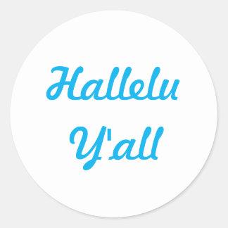 Hallelu Y'all Sticker