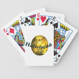 Hallelujah Bicycle Playing Cards