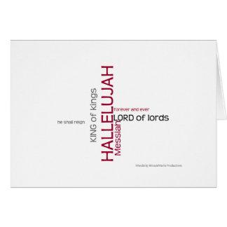 Hallelujah Chorus Card