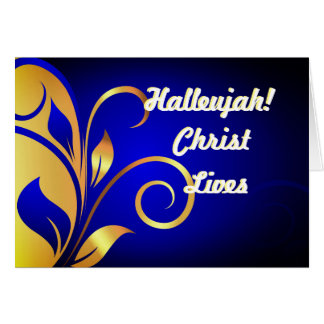 Hallelujah Christ Lives Christmas Card