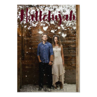 Hallelujah Christmas Holiday Card