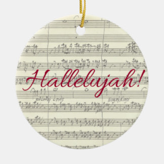 Hallelujah Christmas Ornament