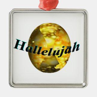 Hallelujah Metal Ornament