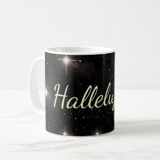 Hallelujah! On Starry Background Coffee Mug