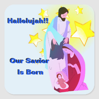 Hallelujah!! Our Savior Is Born Sticker