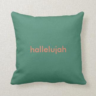 Hallelujah Quote Pillow