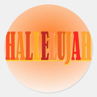 Hallelujah Round Sticker