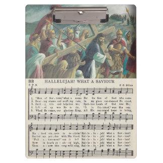 Hallelujah! What A Saviour acrylic clipboard
