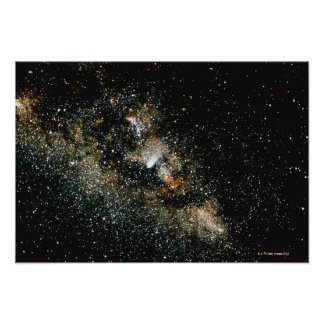 Halleys Comet  in the Milky Way Poster
