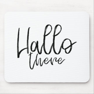 Hallo there talking words mouse pad