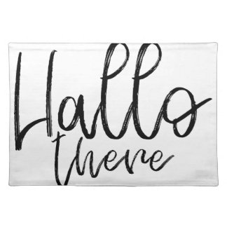 Hallo there talking words placemat