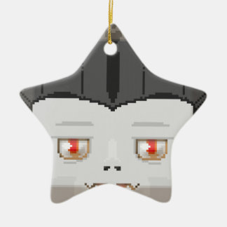 Hallow drac ceramic star ornament