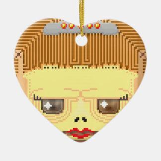 Hallow frinklyn ceramic heart ornament
