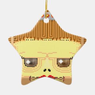 Hallow frinklyn ceramic star ornament