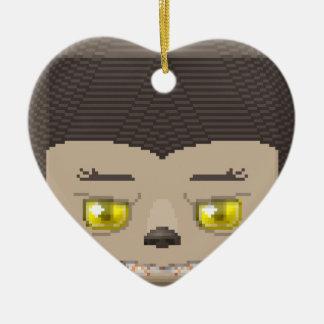 Hallow lyco ceramic heart ornament