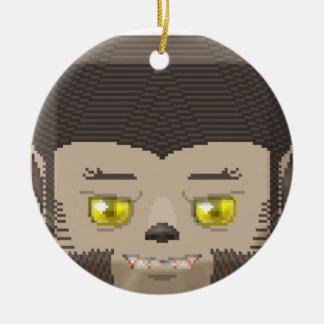 Hallow lyco round ceramic ornament