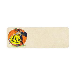 Hallowe en Greetings Custom Return Address Labels