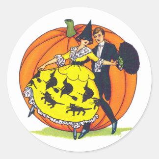 Hallowe en Greetings Round Stickers