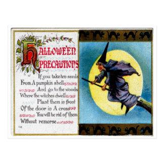 Hallowe en Precautions Postcard