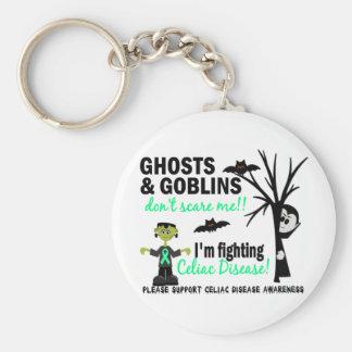 Halloween 1 Celiac Disease Warrior Basic Round Button Keychain