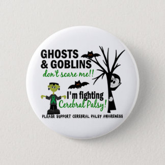 Halloween 1 Cerebral Palsy Warrior 2 Inch Round Button