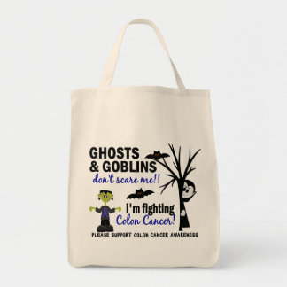 Halloween 1 Colon Cancer Warrior Tote Bag