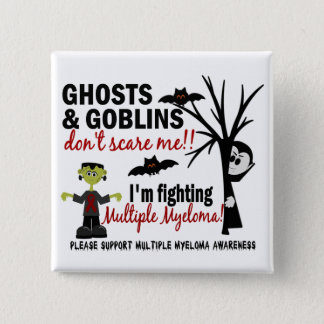 Halloween 1 Multiple Myeloma Warrior 2 Inch Square Button