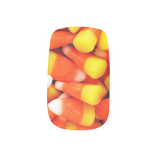 HALLOWEEN 3 D CANDY CORN nails Minx Nail Art