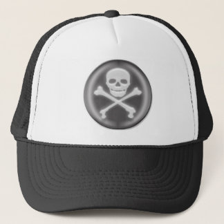 Halloween 3D Skull and Cross-bones Trucker Hat
