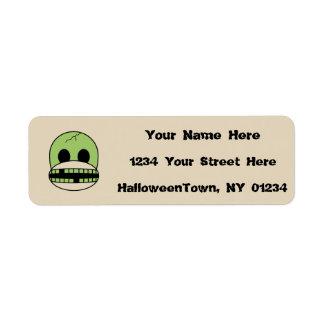 Halloween Address Label Funny Sock Monkey Monster